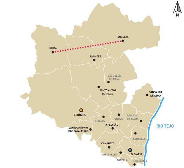 mapa loures Loures Município :: Rota dos Vinhos e do Queijo mapa loures